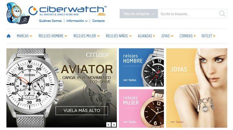 f5e6316ab917 Comprar en la tienda online de Ciberwatch te resultará sumamente sencillo  ya que la compañía cuenta con una categoría exclusiva de relojes y otra de  joyas